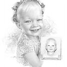 girl w/flower headband drawing by Mike Theuer