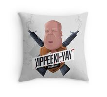 Yippee Ki Yay Modern Throw Pillow