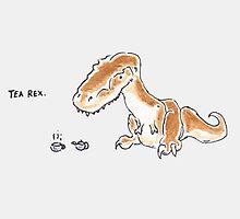 Tea Rex by JurassicArt