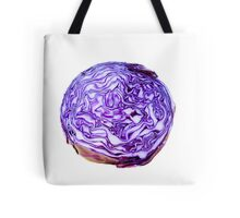 purple cabbage on white background  Tote Bag