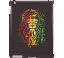 lion rasta and jamaican iPad Case/Skin