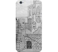 My Pencil Drawing of Bootham Gate and York Minster iPhone Case/Skin
