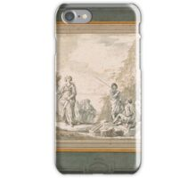Gian Paolo Panini or 2-A Capriccio of Classical Ruins with Figures including a Sybil iPhone Case/Skin