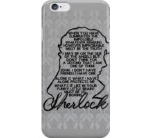 BBC Sherlock quote picture iPhone Case/Skin