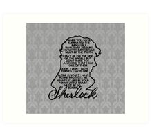 BBC Sherlock quote picture Art Print