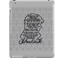 BBC Sherlock quote picture iPad Case/Skin