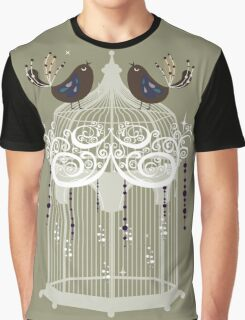 birds in a cage  Graphic T-Shirt