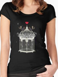 birds in a cage  Women's Fitted Scoop T-Shirt