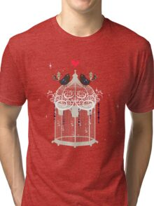 birds in a cage  Tri-blend T-Shirt