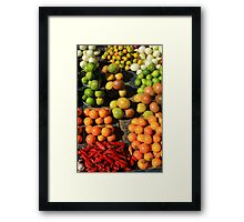 Fresh Fruits and Vegetables at the Market Framed Print