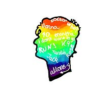 rainbow doctor who silhouette by phan-direction
