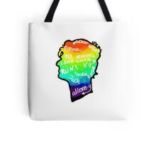 rainbow doctor who silhouette Tote Bag
