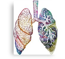 Lungs - Colours Canvas Print
