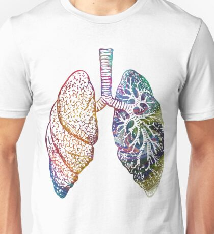 Lungs - Colours Unisex T-Shirt
