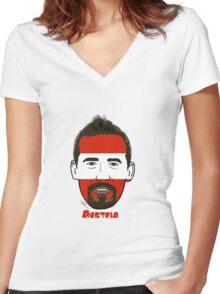 EURO  2016 Austria Women's Fitted V-Neck T-Shirt