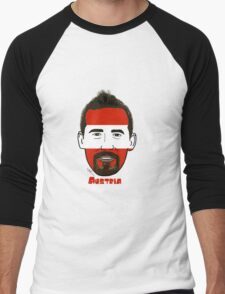 EURO  2016 Austria Men's Baseball ¾ T-Shirt