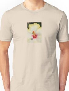Close Up of Stamen And Pollen Yellow Hibiscus Unisex T-Shirt