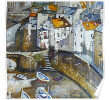 Staithes' Walls Poster