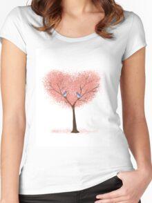 Bluebird Blossoms Women's Fitted Scoop T-Shirt