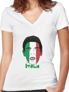 EURO  2016 Italy Women's Fitted V-Neck T-Shirt