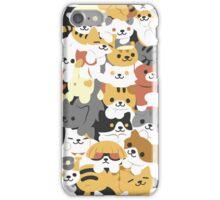 cat pile iPhone Case/Skin