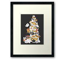 cat pile Framed Print