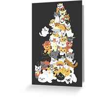 cat pile Greeting Card
