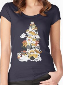 cat pile Women's Fitted Scoop T-Shirt
