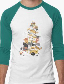 cat pile Men's Baseball ¾ T-Shirt