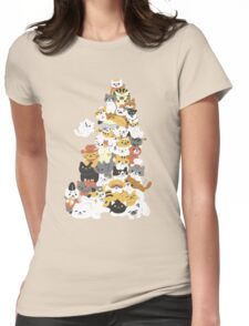 cat pile Womens Fitted T-Shirt