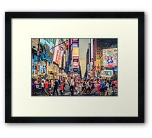 Times Square Summer Framed Print
