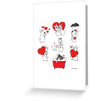 Emoticons_ love Greeting Card