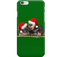 Vector Santa Paws Is Coming To Town Christmas Greeting iPhone Case/Skin