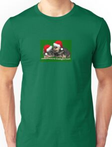 Vector Santa Paws Is Coming To Town Christmas Greeting T-Shirt