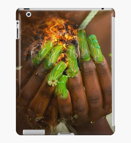 African model with a ball of fire in her hands.  iPad Case/Skin