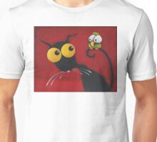 Stressiecat an the bird Unisex T-Shirt
