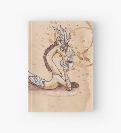 Discord Drinking Coffee Hardcover Journal