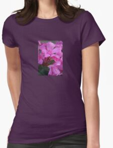 Pink Oleander Flower Womens Fitted T-Shirt
