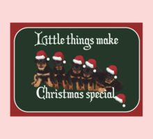 Little Things Make Christmas Special Vector One Piece - Short Sleeve