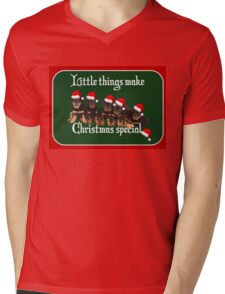 Little Things Make Christmas Special Vector Mens V-Neck T-Shirt