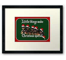 Little Things Make Christmas Special Vector Framed Print