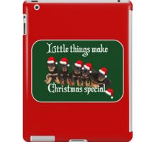 Little Things Make Christmas Special Vector iPad Case/Skin