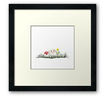 Bunny in the Garden Framed Print