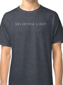 Helvetica Light (White) Classic T-Shirt