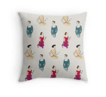 Ladies of Luxury Throw Pillow