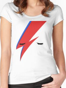 BOWIE CLOSE UP Women's Fitted Scoop T-Shirt