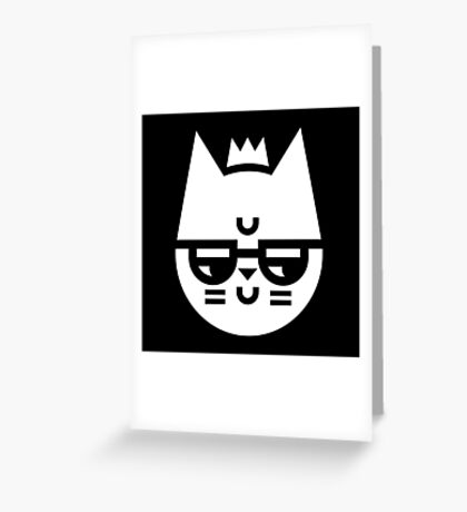 Cynical Cat Greeting Card