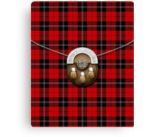 Clan Ramsay Tartan And Sporran Canvas Print