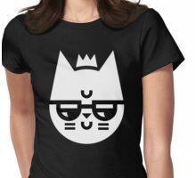Cynical Cat Womens Fitted T-Shirt