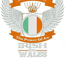 Never Underestimate The Power Of AN  Irish In Wales by HotTShirts